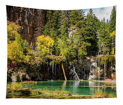 Autumn At Hanging Lake Waterfall - Glenwood Canyon Colorado Tapestry