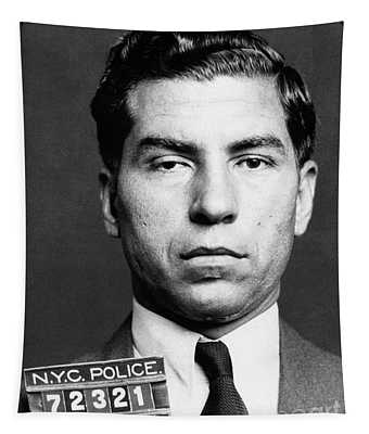 Tapestry featuring the photograph Charles Lucky Luciano by Granger