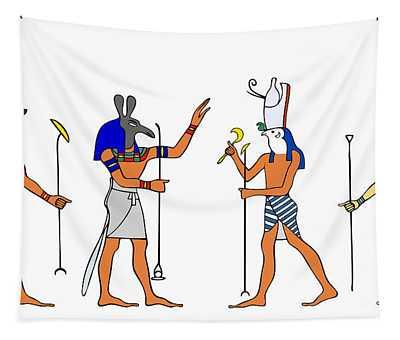 Egyptian Gods And Goddess Tapestry
