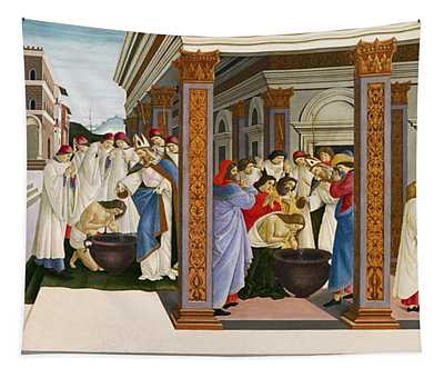 Four Scenes From The Early Life Of Saint Zenobius Tapestry