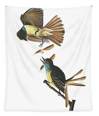 Great Crested Flycatcher Tapestry
