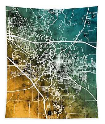 Iowa City Map Tapestry