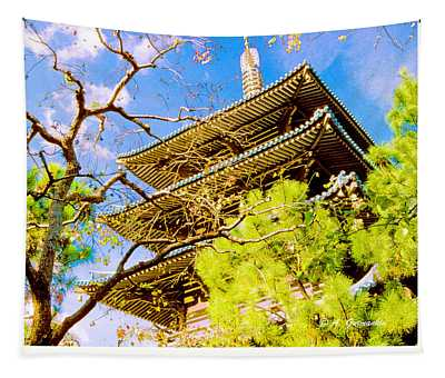 Japanese Pagoda Epcot Walt Disney World Tapestry