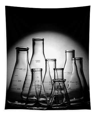 Laboratory Glassware In Science Research Lab Tapestry