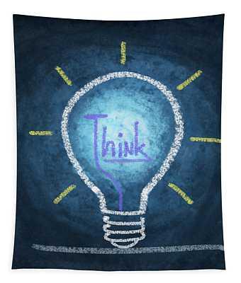 Light Bulb Design Tapestry