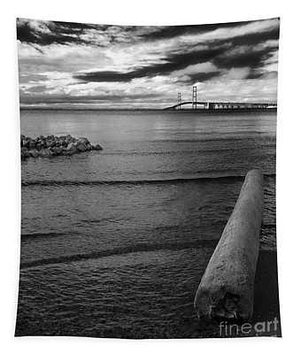 Mackinac Bridge - Infrared 01 Tapestry