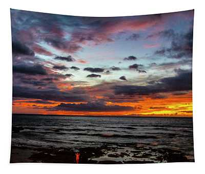 Hawaii Sun Set A Tapestry