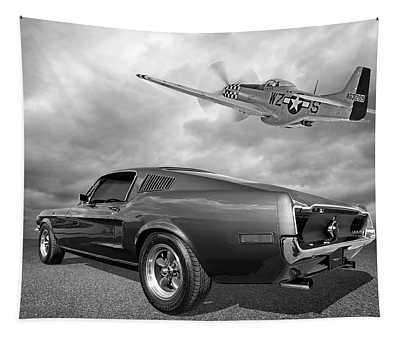p51 With Bullitt Mustang Tapestry