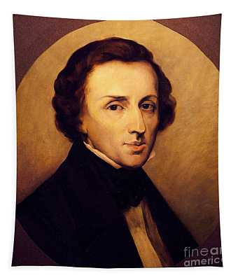 Portrait Of Frederic Chopin  Tapestry