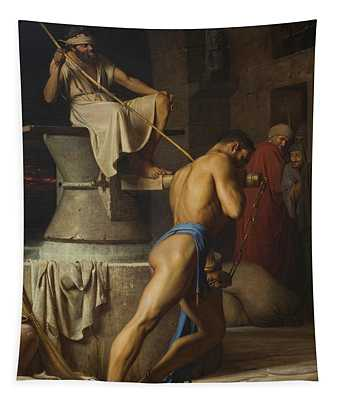 Samson And The Philistines Tapestry