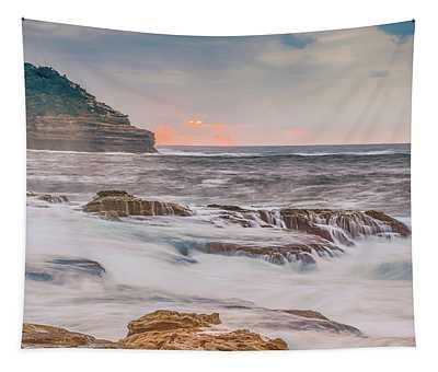 Sunrise Seascape And Headland Tapestry