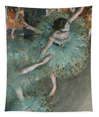 Swaying Dancer  Dancer In Green Tapestry