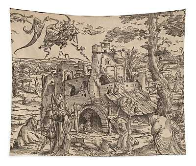 The Temptation Of Saint Anthony Tapestry