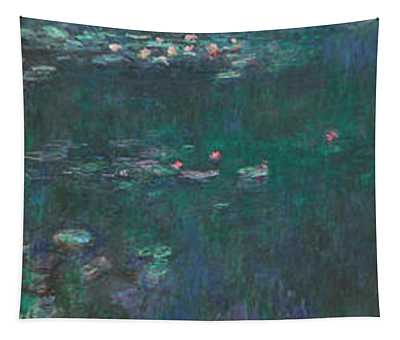 The Water Lilies, Green Reflections Tapestry