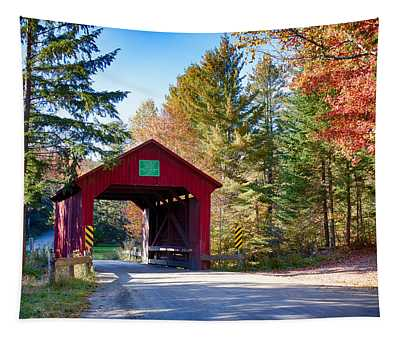Vermonts Moseley Covered Bridge Tapestry