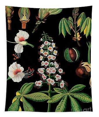 Vintage Botanical Tapestry