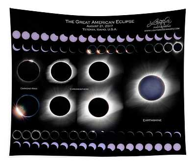 2017 Solar Eclipse Collage Tapestry