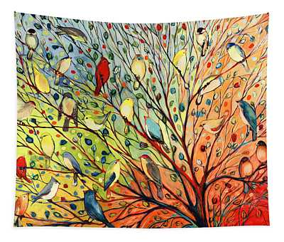 Bird Paintings Wall Tapestries