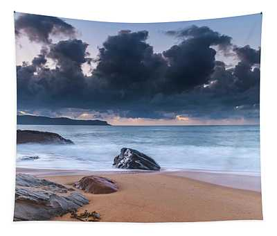 Sunrise Seascape With Clouds Tapestry