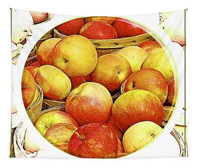Apples In Wooden Baskets, Still Life Tapestry