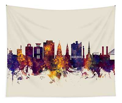 Charleston South Carolina Skyline Tapestry
