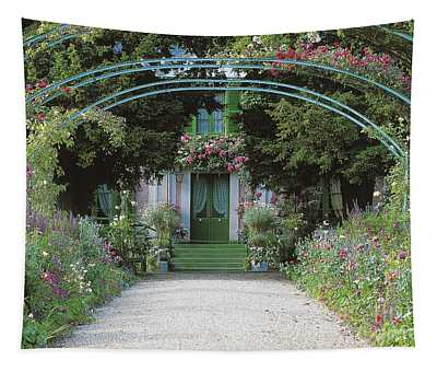Claude Monet's Garden At Giverny Tapestry