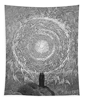 Tapestry featuring the photograph Dante Paradise by Gustave Dore