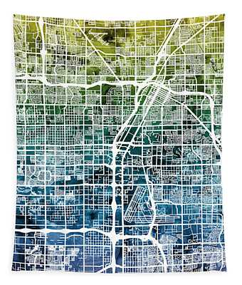 Las Vegas City Street Map Tapestry