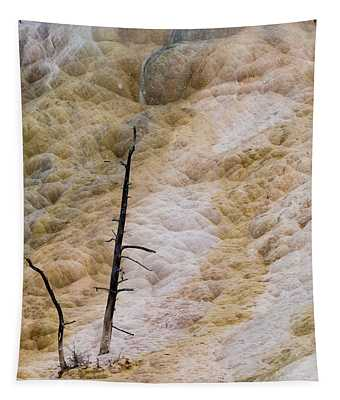Mammoth Hot Spring Terraces Tapestry