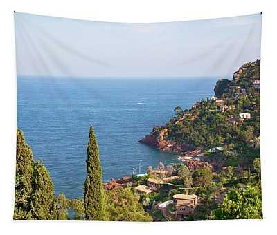 French Mediterranean Coastline Tapestry
