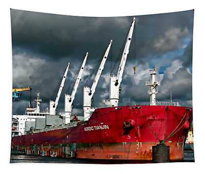 Port Of Amsterdam Tapestry