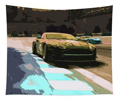 Power And Motors Tapestry by Andrea Mazzocchetti