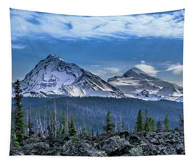 3 Sisters Of Oregon Cascades Tapestry