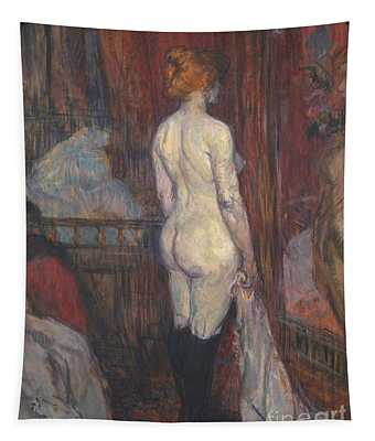 Woman Before A Mirror Tapestry