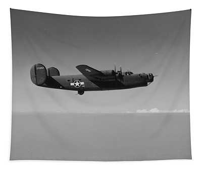 Wwii Us Aircraft In Flight Tapestry