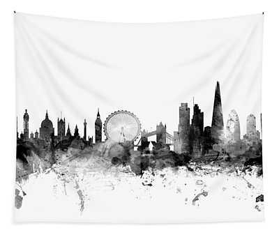 London England Skyline Tapestry