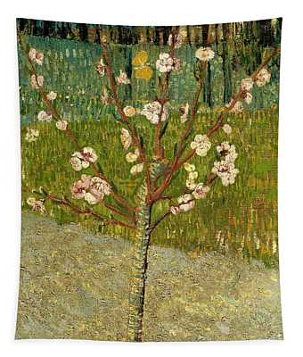 Almond Tree In Blossom Tapestry
