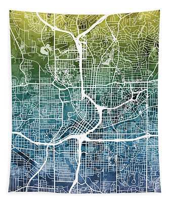 Atlanta Georgia City Map Tapestry