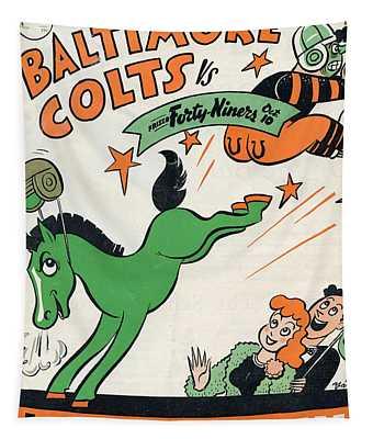 Baltimore Colts Vintage Program Tapestry