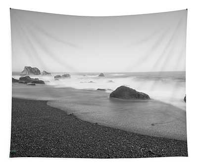 Beach, Rocks And Surf Tapestry