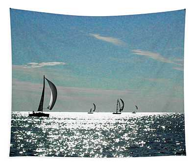 4 Boats On The Horizon Tapestry