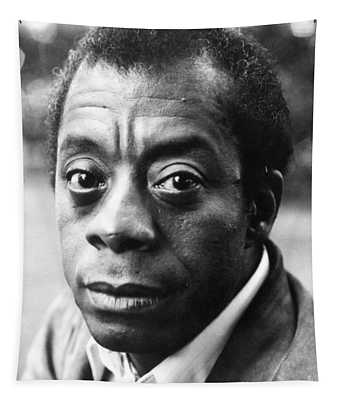 Tapestry featuring the photograph James Baldwin by Granger