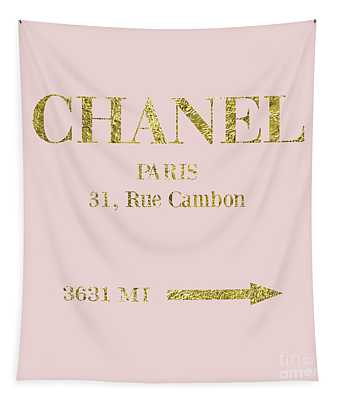 Mileage Distance Chanel Paris Tapestry