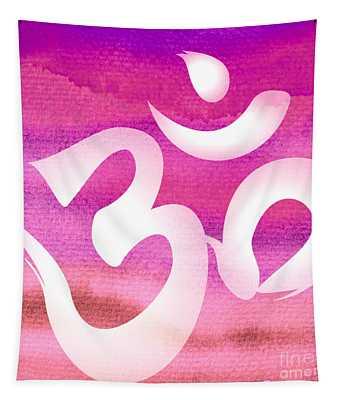 Om Symbol. Pink Tapestry