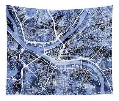 Pittsburgh Pennsylvania Street Map Tapestry