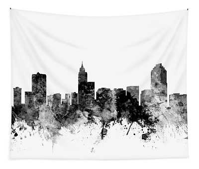 Raleigh North Carolina Skyline Tapestry