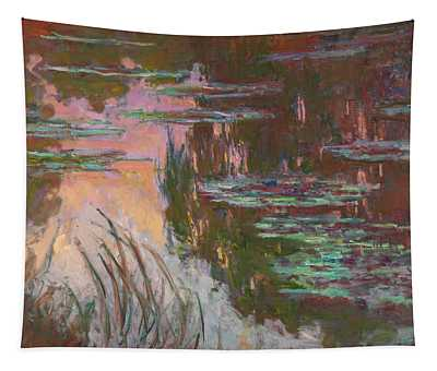 Water Lilies, Setting Sun Tapestry