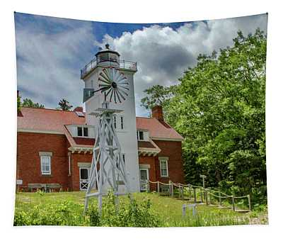 40 Mile Point Lighthouse Tapestry