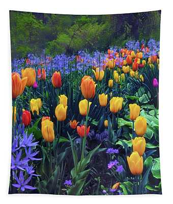 Procession Of Tulips Tapestry