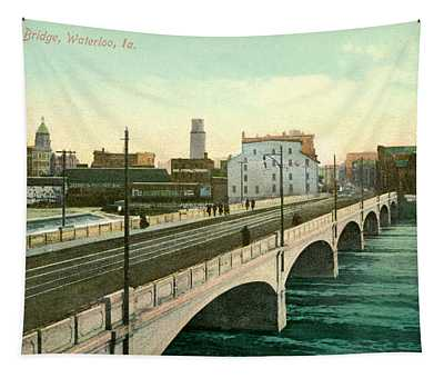 4th Street Bridge Waterloo Iowa Tapestry